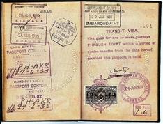 Alte ägyptische Visa