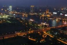 Zamalek, Blick vom Kairo Tower.