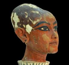 Kopf des Tutanchamun als Kind